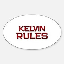kelvin rules Oval Decal