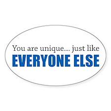 You Are Unique Bumper Stickers