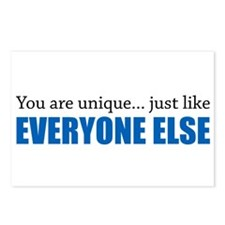 You Are Unique Postcards (Package of 8)