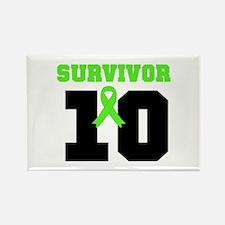 Lymphoma Survivor 10 Years Rectangle Magnet