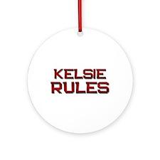 kelsie rules Ornament (Round)