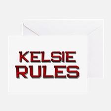 kelsie rules Greeting Card