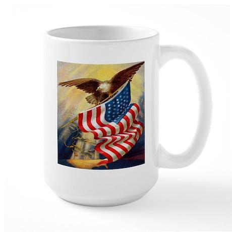 """""""Eagle with Flag"""" Large Mug"""