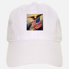 """Eagle with Flag"" Baseball Baseball Cap"