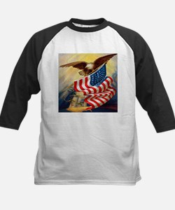 """Eagle with Flag"" Kids Baseball Jersey"