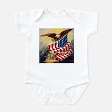 """""""Eagle with Flag"""" Infant Bodysuit"""