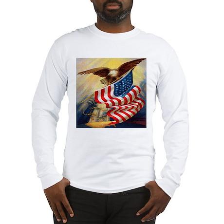 """Eagle with Flag"" Long Sleeve T-Shirt"
