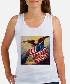 """""""Eagle with Flag"""" Women's Tank Top"""
