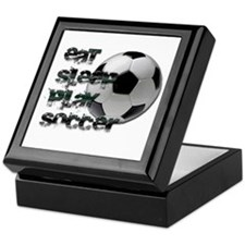 Eat sleep soccer Keepsake Box
