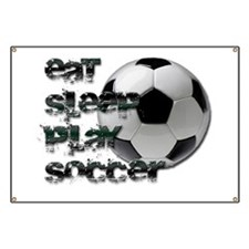 Eat sleep soccer Banner
