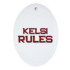kelsi rules Oval Ornament