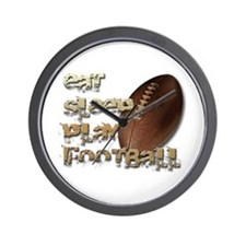 Eat sleep football Wall Clock