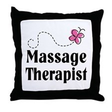 Pretty Massage Therapist Throw Pillow