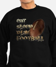 Eat sleep football Sweatshirt (dark)