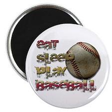 """Eat sleep baseball 2.25"""" Magnet (10 pack)"""