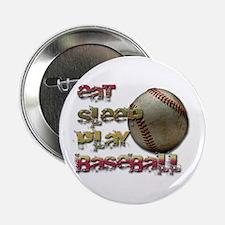 """Eat sleep baseball 2.25"""" Button (10 pack)"""