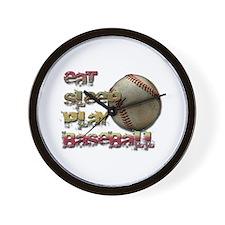 Eat sleep baseball Wall Clock