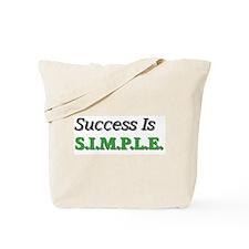 Success Is S.I.M.P.L.E. Tote Bag