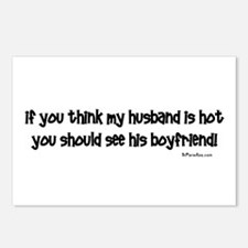 If you think my husband is ho Postcards (Package o