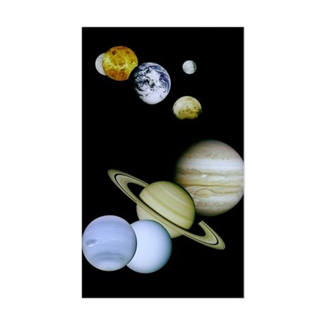 Our Solar System Astronomy Rectangle Sticker