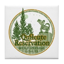 Quileute Wolf Refuge Tile Coaster