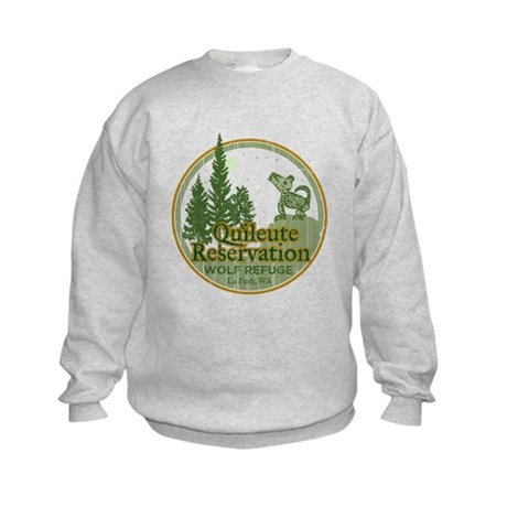 Quileute Wolf Refuge Kids Sweatshirt