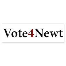 Vote 4 Newt Bumper Bumper Sticker