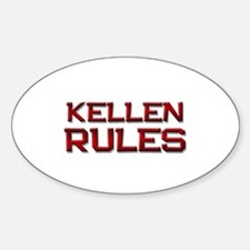 kellen rules Oval Decal