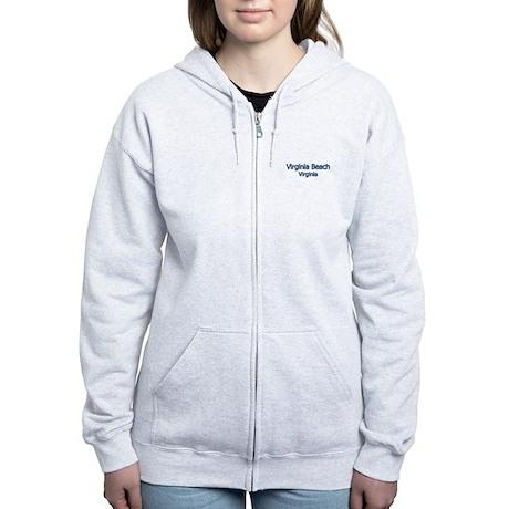 Virginia Beach (text) Women's Zip Hoodie