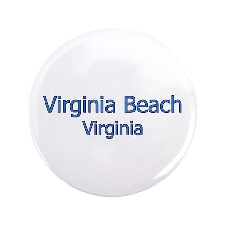 """Virginia Beach (text) 3.5"""" Button"""