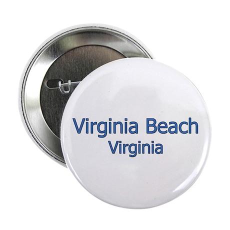 """Virginia Beach (text) 2.25"""" Button"""