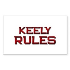 keely rules Rectangle Decal
