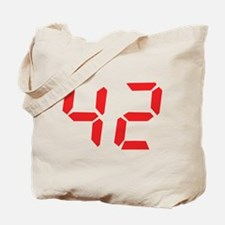 42 fourty-two red alarm clock Tote Bag