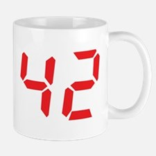 42 fourty-two red alarm clock Mug