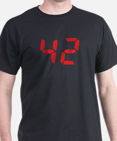 42 fourty-two red alarm clock T-Shirt