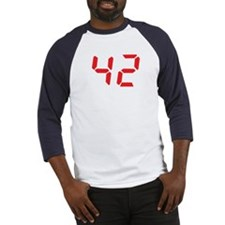 42 fourty-two red alarm clock Baseball Jersey