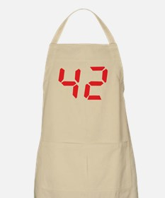 42 fourty-two red alarm clock BBQ Apron