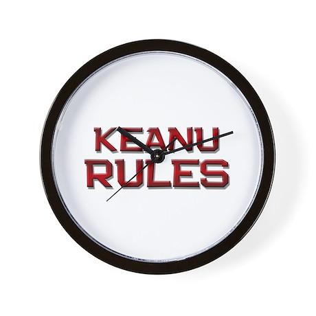 keanu rules Wall Clock