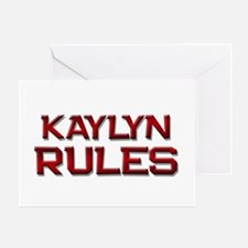 kaylyn rules Greeting Card