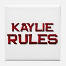 kaylie rules Tile Coaster