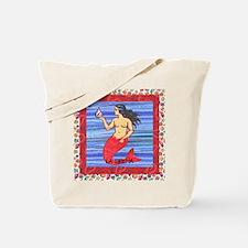 Vintage Loteria Mermaid Tote Bag