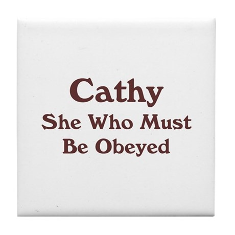 Personalized Cathy Tile Coaster
