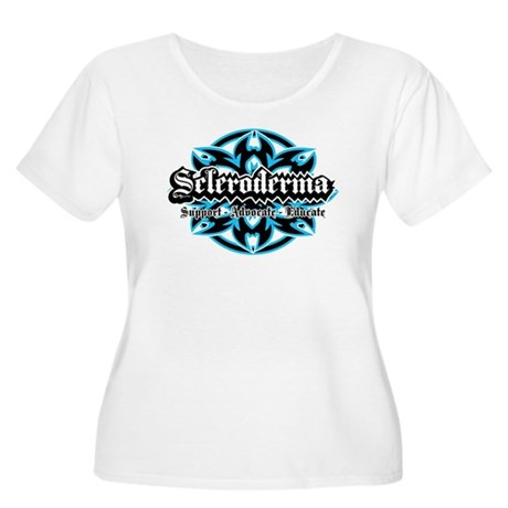Scleroderma Tribal Women's Plus Size Scoop Neck T-