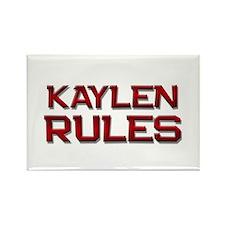 kaylen rules Rectangle Magnet