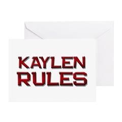 kaylen rules Greeting Card