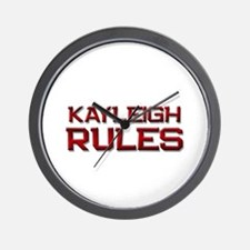 kayleigh rules Wall Clock