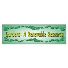Renewable Bumper Bumper Bumper Sticker