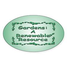 Renewable Oval Decal
