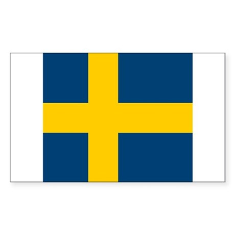 Swede Rectangle Sticker