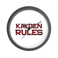 kayden rules Wall Clock